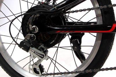 """Електровелосипед складаний Make 20"""" 36V 12Ah 350W / алюмінієва рама 17"""" чорно-червоний (elmake20f)"""