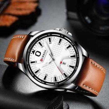 Наручний годинник AlexMosh чоловічі Curren Silver-White-Brown (2011)