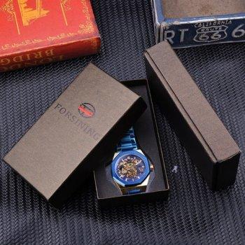 Наручний годинник AlexMosh чоловічі Gusto Skeleton Blue-Gold (5)