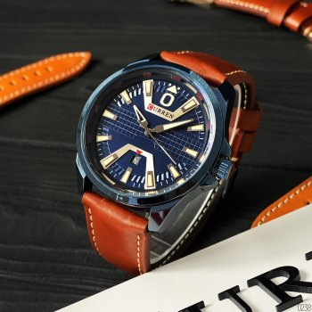 Наручний годинник AlexMosh чоловічі Curren Blue- (1013)