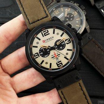 Наручний годинник AlexMosh чоловічі Curren Khaki-Black (1017)