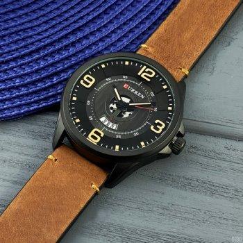 Наручний годинник AlexMosh чоловічі Curren Black-Brown (1014)
