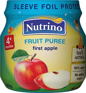 Упаковка фруктового пюре Nutrino з яблук 80 г х 6 шт. (8606019657307)