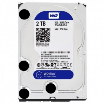 "Жорсткий диск 3.5"" 2Tb Western Digital Blue, SATA3, 64Mb, 5400 rpm (WD20EZRZ)"