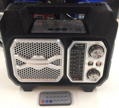 Портативний акустичний Радіоприймач Golon RX 2019 з Bluetooth USB FM AM радіо Чорний (TY460)