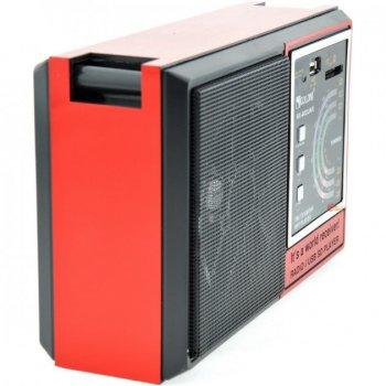 Портативный аккумуляторный Радиоприемник GOLON RX-002 FM AM с Mp3 USB SD красный (L556)