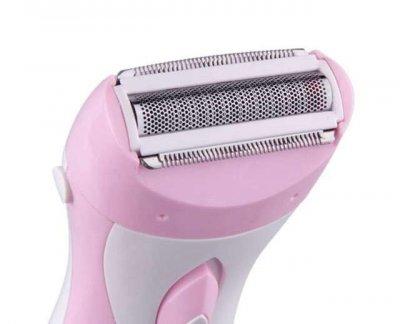 Электробритва женская аккумуляторная эпилятор Кemei KM3018 Розовый