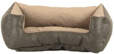 Лежак для собак і кішок Форт Нокс FX Home Royal Альміра 40х30х12 см Бежево-сірий (2820000011862)