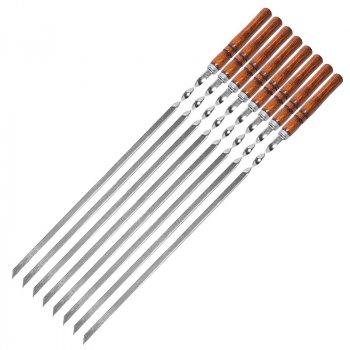 Набір шампурів Горіх 60Х10Х2мм 8 шт + мангал+чохол EcoGrill(544676)