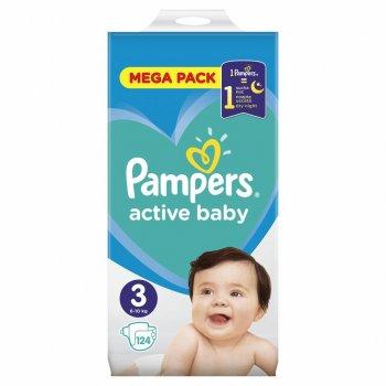 Підгузник Pampers Active Baby Midi Розмір 3 (6-10 кг), 124 шт. (8001090950857)