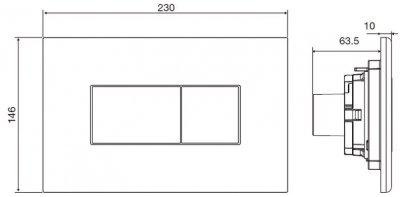 Панель смыва VOLLE Neo PCH 221515 хром глянцевый