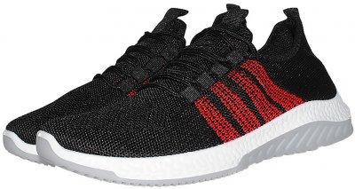 Кроссовки NM Kp912 Черные с красным