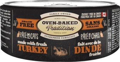 Влажный корм Oven-Baked Tradition Bio Biscuit полностью беззерновой паштет для котов из свежего мяса индейки