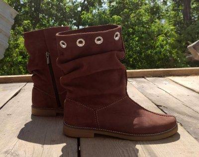 Демисезонные ботинки Берегиня 5в126ч75/1 коричневого цвета
