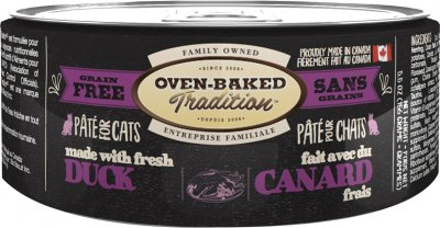 Влажный корм Oven-Baked Tradition Bio Biscuit полностью беззерновой паштет для котов из свежего мяса утки