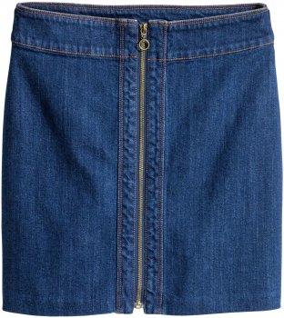 Юбка джинсовая H&M 4184064 Темно-синяя