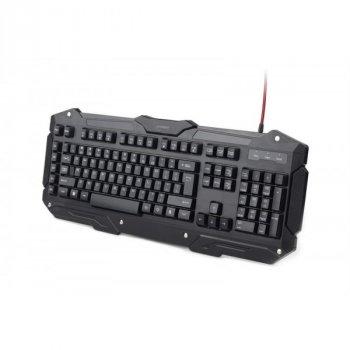 Клавіатура Gembird KB-UMGL-01-UA ігрова, програмована, підсвітка, чорний