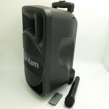 Акумуляторна акустична система з мікрофоном радіо USB FM Su-Kam 500 Вт Black (00766)