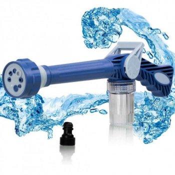 Насадка на шланг водомет распылитель воды с отсеком для моющих средств Ez Jet Water Cannon Blue (zhb0208)