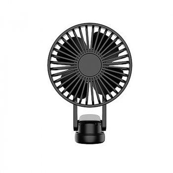 Міні вентилятор Lesko F1 Black USB ручний настільний портативний microUSB на акумуляторі