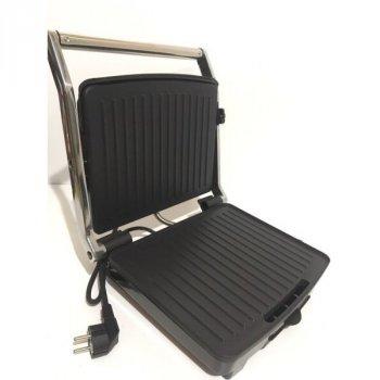 Електрогриль контактний притискної з антипригарним покриттям Crownberg CB-1067 1500W Black/Silver