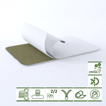 Тонкий матрас-топпер Green Streem Biolinum Eco 160х200 см (02022020-01-17) (2020011602008)