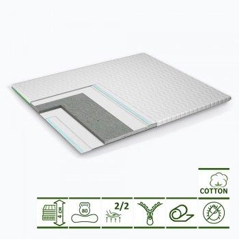 Тонкий матрас-топпер Green Streem Cotton Mini 160х200 см (02022020-17-17) (2020171602009)