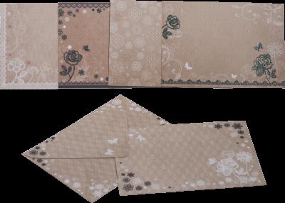 Заготівля для листівок ZiBi з кольоровими конвертами Vintage 105 х 148 см (ZB.18221-AD)