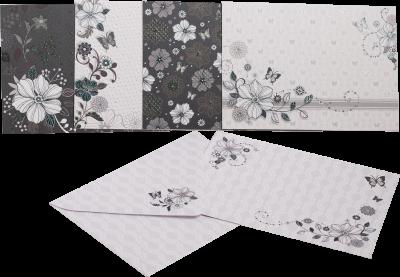 Заготівля для листівок ZiBi з кольоровими конвертами Fancy 105 х 148 см (ZB.18224-AD)