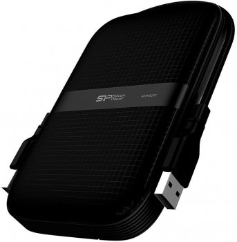 Жорсткий диск Silicon Power Armor A60 1 TB SP010TBPHDA60S3A 2.5 USB 3.2 External Black