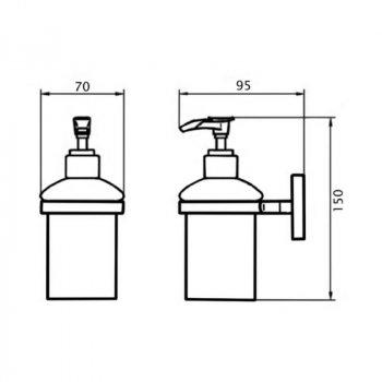 Дозатор для рідкого мила Lidz (CRG)-115.02.02