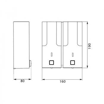 Диспенсер для рідкого мила Lidz (PLA)-120.01.02