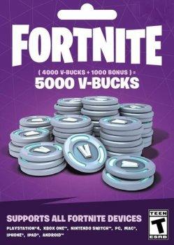 Fortnite: 5000-баксів (4000 + 1000 V-BUCKS) | PS4