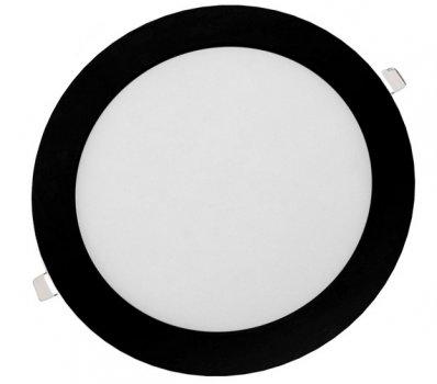 Панель LED врезная BLACK LURD-6N 4000K 6W круг (d:110мм) алюминий