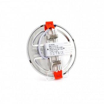 Панель LED універсальна (рухомі кліпси) LU-RD-UNI-6W 4000K коло (d:100мм) біла