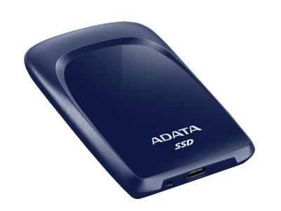 Портативний SSD A-DATA SC680 480GB Portable USB 3.2 Type-C Blue (ASC680-480GU32G2-CBL)