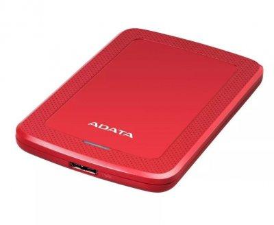 """Жорстку зовнішній диск A-DATA USB 3.2 Gen1 HV300 2TB 2,5"""" Червоній (AHV300-2TU31-CRD)"""