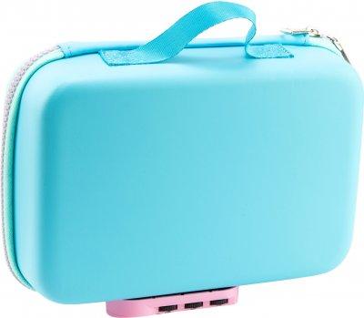 Пенал-сумка с тиснением Cool For School 1 отделение на замке Голубая (QT-5685-Blue)