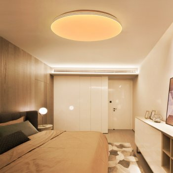 Кругла світлодіодна SMART люстра 80W 500x500x55 3000-6000К