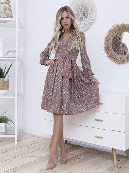 Платье ISSA PLUS 12099 Светло-коричневое