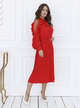 Плаття ISSA PLUS 12132 Червоне