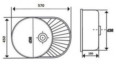 Кухонна мийка LIDZ 6044 Polish 0.8 мм (LIDZ6044POL)