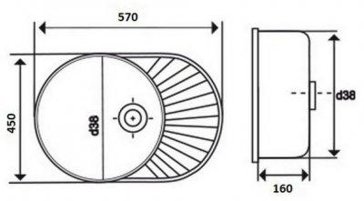 Кухонна мийка LIDZ 5745 Satin 0.6 мм (LIDZ574506SAT)