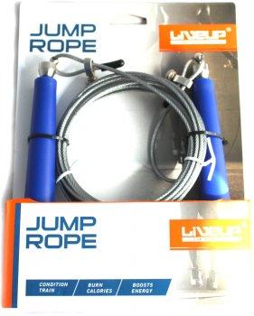 Скакалка LiveUp Cable Jump Rope 300х0.3 см Синя (LS3114)