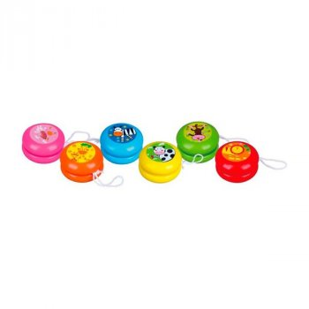 Іграшка розвиваюча Viga Toys Йо-йо 12 шт. в дисплеї дерево різнобарвний AFK 53769