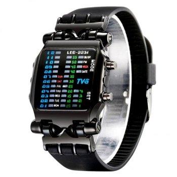Годинники чоловічі TVG ROBOT з шкіряним ремінцем Чорний