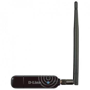 Беспроводной адаптер D-Link DWA-137 802.11n 150Mbps, внешняя антенна, USB