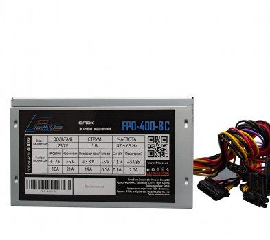 Блок живлення Frime FPO-400-8C_OEM (без кабелю живлення)