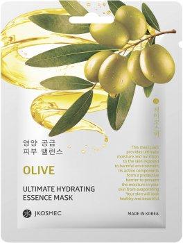 Ежедневная увлажняющая маска с экстрактом оливы Jkosmec Olive Ultimate Hydrating Essence Mask 25 мл (8809540518745)