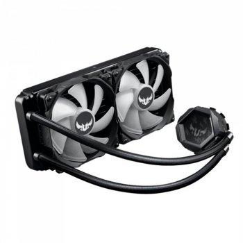 Система водяного охолодження Asus TUF Gaming LC 240 RGB (TUF-LC-240 RGB), Intel:1200/1150/1151/1152/1155/1156/1366, AMD:AM4, 272х122х27мм, 4-pin